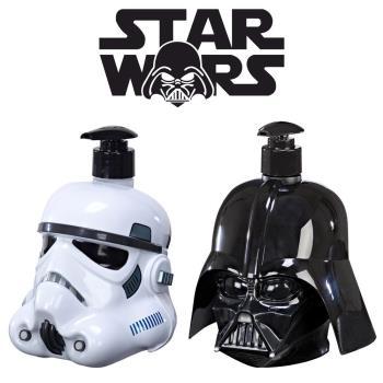 STAR WARS STORMTROOPER 帝國風暴兵+DARTH VADER 黑武士 3D珍藏限量版公仔 二合一沐浴洗髮精 500ml
