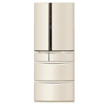 Panasonic國際牌日本原裝601L六門無邊框頂級變頻冰箱(香檳金)NR-F602VT-N1