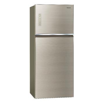 Panasonic國際牌422公升玻璃雙門變頻冰箱(翡翠金)NR-B429TG-N