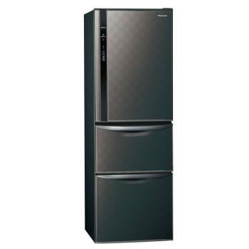 Panasonic國際牌385L三門變頻電冰箱(星空黑)NR-C389HV-K