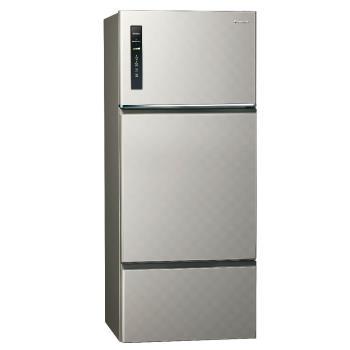 送吸濕毯★ Panasonic國際牌 一級能效 481公升三門變頻冰箱(銀河灰)NR-C489TV-S