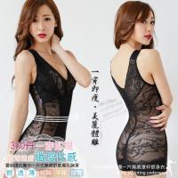 任-【伊黛爾】 專櫃訂製款360丹一片式無痕罩杯爆乳塑身衣M-XXL(性感黑)