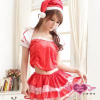 天使霓裳 閃耀星芒 狂熱聖誕舞會 耶誕服 角色服(紅F) KR6085