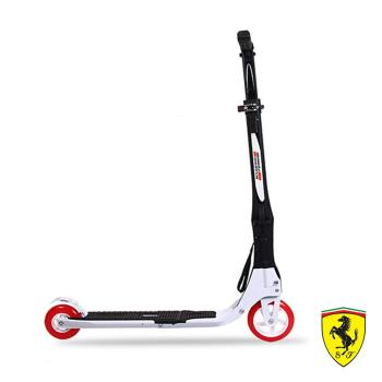 《哈街》FERRARI。法拉利快速折疊2輪滑板車-經典黑白款