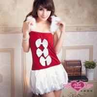天使霓裳 濃情限定 聖誕派對 時尚洋裝耶誕服 角色服(紅F) AE3669