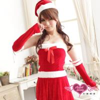 【天使霓裳】聖誕派對小公主 可愛連身絨布聖誕服(紅F) S8486