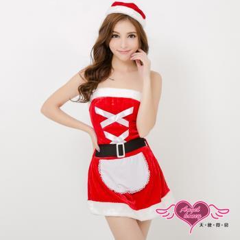 天使霓裳 耶誕服 聖誕甜心女僕 狂熱聖誕舞會角色服(紅F)