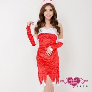 天使霓裳 聖誕服 獻禮幻想 狂熱聖誕舞會角色扮演服(紅F) TH0014