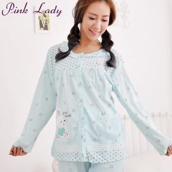 【PINK LADY】乖寶寶兔兔居家棉柔長袖成套睡衣4127