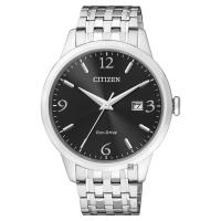CITIZEN 星辰 光動能紳士手錶 黑x銀 40mm BM7300-50E