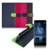 【台灣製造】FOCUS Nokia 8 糖果繽紛支架側翻皮套
