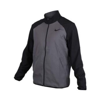 NIKE 男梭織夾克-立領外套 慢跑 路跑 灰黑
