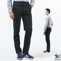 【NST Jeans】經典Black系列 細直紋三折壓紋斜口袋休閒褲(中腰) 397(66493)