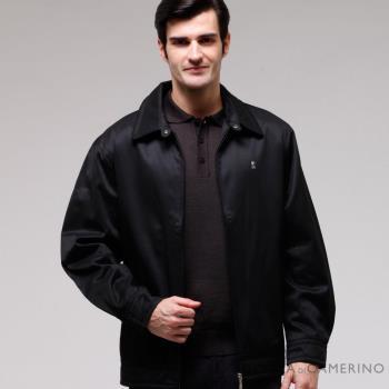 【ROBERTA諾貝達】超值嚴選 內裡舖棉夾克外套 黑色