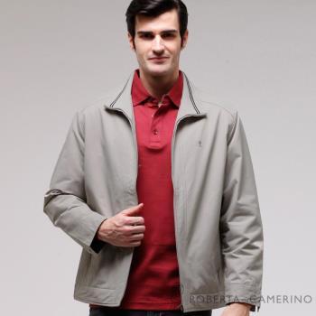 ROBERTA諾貝達 台灣製 休閒百搭 內裡舖棉 夾克外套 ROT75-82亞麻