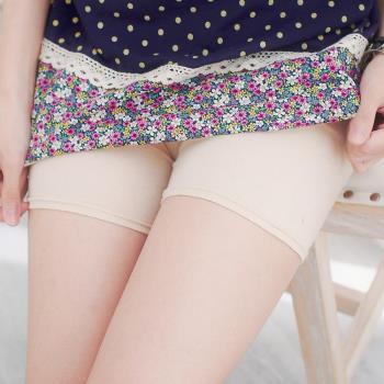 【lingling】小尺碼-防走光美腿安全褲(膚棉平口)A1091-20
