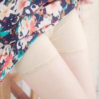 【lingling】小尺碼-防走光美腿安全褲(膚棉蕾絲)A1091-21
