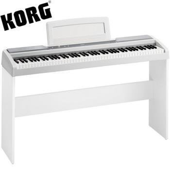 【KORG】標準88鍵電鋼琴/數位鋼琴含原廠琴架-白色 / 公司貨保固 (SP-170S)