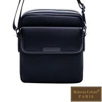 Roberta Colum - 現代雅痞休閒配真皮機能側背包-共2色