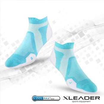 任-LEADER ST-02 女款X型繃帶 加厚耐磨避震短襪 白綠