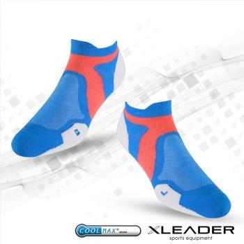 任-LEADER ST-02 女款X型繃帶 加厚耐磨避震短襪 白藍