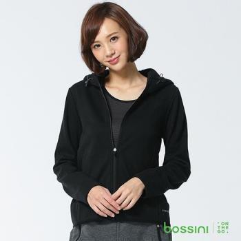 bossini女裝-休閒連帽外套03黑