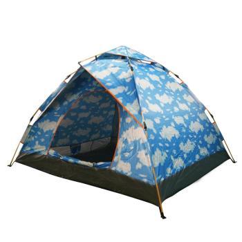 TECHONE 鏕遊樂免搭速開野營四人帳篷 免搭帳棚 四人加大速免搭彈開式帳篷(210x185x125cm)