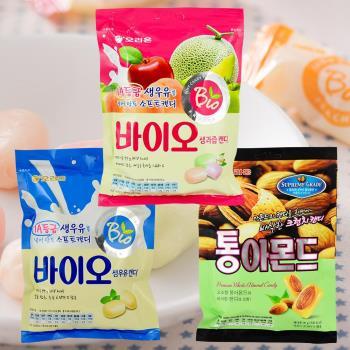 好麗友 水果味軟糖+牛奶軟糖+杏仁糖共6袋