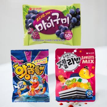 好麗友 造型軟糖任選12包-葡萄/毛毛蟲/海洋動物