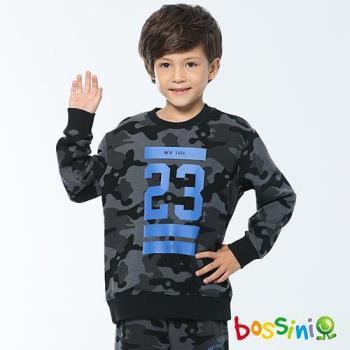 bossini男童-印花厚棉運動衫06黑