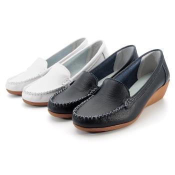 【 cher美鞋】MIT真皮小坡跟舒適柔軟楔型美鞋-0661131450-18
