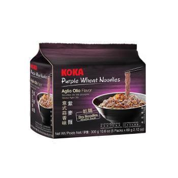 KOKA 紫麥麵-義式蒜香味300g(6袋/組)