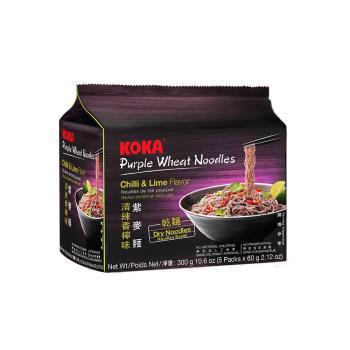 【KOKA】紫麥麵-清辣香檸味300g(6袋/組)