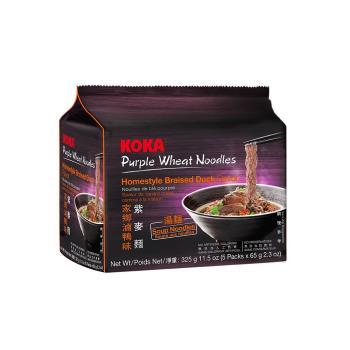 KOKA 紫麥麵-家鄉滷鴨味325g(6袋/組)
