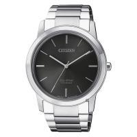 CITIZEN 星辰 鈦金屬光動能極簡手錶 灰x銀 41mm AW2020-82H