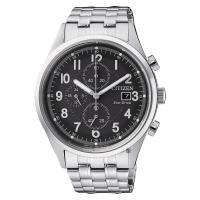 CITIZEN 星辰 Chronograph 光動能計時手錶 黑x銀 42mm CA0620-59H