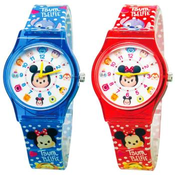 【Disney迪士尼】卡通錶(大) - Tsum Tsum 系列 圓滾滾休閒手錶(主角米奇 / 主角米妮)