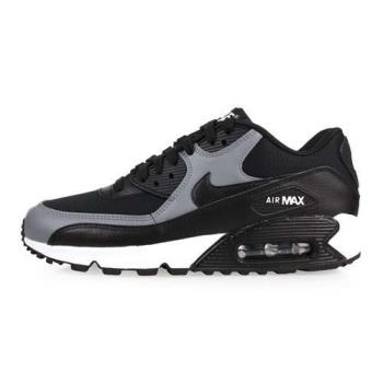 NIKE WMNS AIR MAX 90 LE 女休閒鞋-氣墊 慢跑 路跑 黑灰白
