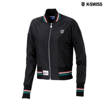 K-Swiss Silky Jacket棒球外套-女-黑