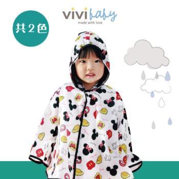【vivibaby】迪士尼輕量雨衣-米奇米妮款(紅/黑)