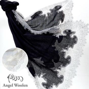 Angel Woolen 印度Pashmina手工羊絨蕾絲披肩圍巾(Audrey的魅力與美麗-共兩色)