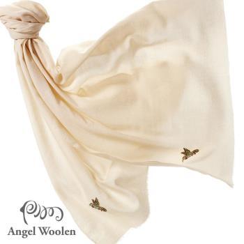 Angel Woolen 印度Pashmina手工水鑽羊絨刺繡披肩圍巾(Honey愛的依戀-共兩色)
