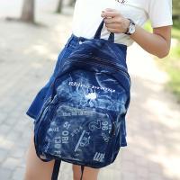Acorn橡果-韓版學院風牛仔帆布後背包6211(B款)