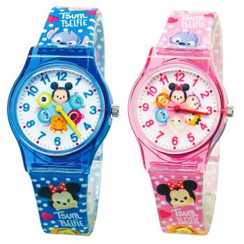 【Disney迪士尼】卡通錶(大) - Tsum Tsum 系列 圓滾滾休閒手錶(米奇好朋友 / 米妮好朋友)