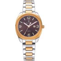 Olym Pianus奧柏表~聚焦 石英腕錶~雙色x咖啡 33mm 5706LSR