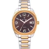 Olym Pianus奧柏表-聚焦 石英腕錶-雙色x咖啡 5706MSR