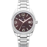 Olym Pianus奧柏表~聚焦 石英腕錶~咖啡 5706MS