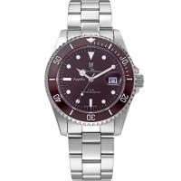 Olym Pianus奧柏表~典藏風采石英腕錶~咖啡 899831MS
