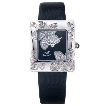 Ogival 瑞士愛其華 花漾馨語珠寶腕錶-黑 380-36DLW
