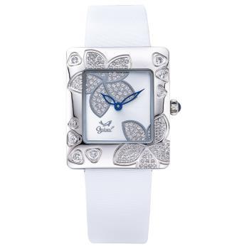 Ogival 瑞士愛其華 花漾馨語珠寶腕錶-白 380-36DLW